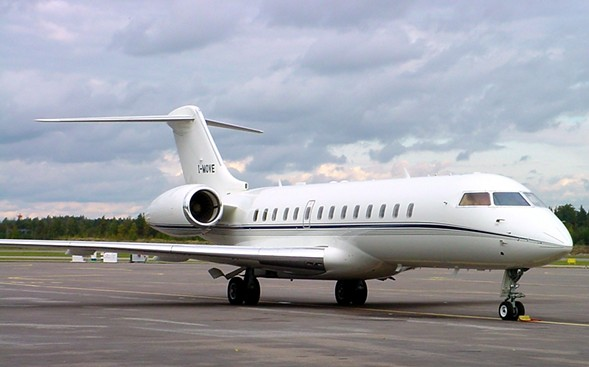 Tronc leased a jet made by Montreal-based Bombardier, which manufactures the plane shown here. - AP PHOTO/LAURI HUIMA