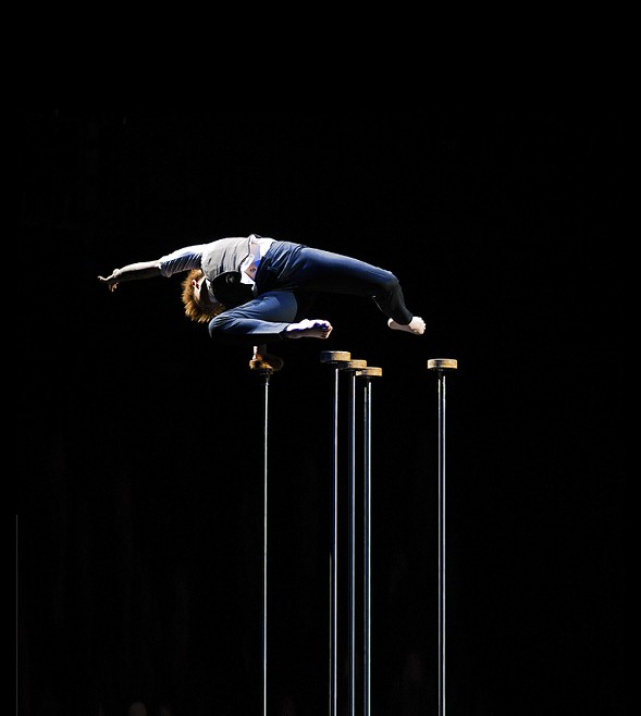 Circus artist Emma Serjeant performs in Trashed. - COURTESY THE ARTIST