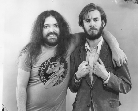 Skip Williamson, left, and Jay Lynch in 1973 - SUN-TIMES ARCHIVE