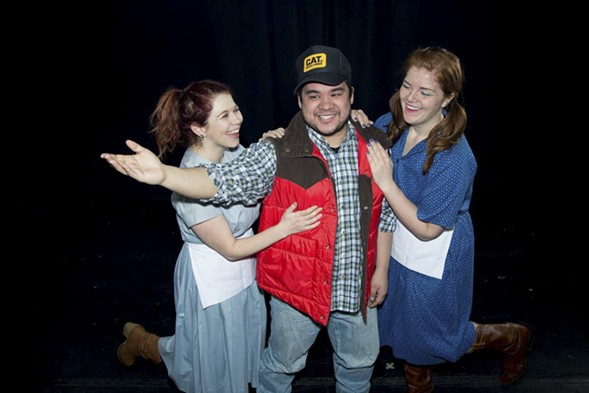 Caroline Nash, Kyle Encinas, and Ashley Geron in WeAreProductions' Smokey & the Bandit: The Musical - JEREMY KANNE