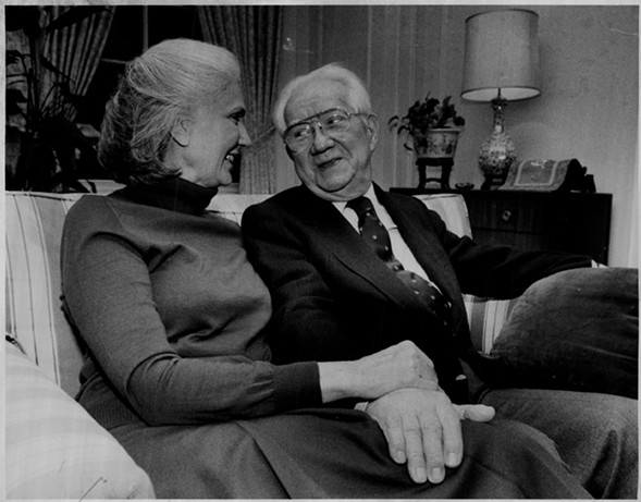Onetime Illinois supreme court justice Thomas E. Kluczynski and his wife, Melanie, sued Delta Airlines in 1976 after they were bumped from a flight. - SUN-TIMES ARCHIVE