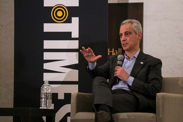 Mayor Rahm Emanuel at a Sun-Times event earlier this month - ASHLEE REZIN/SUN-TIMES