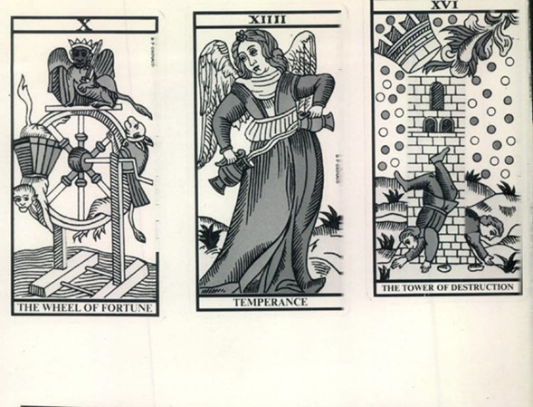 "Traditional tarot designs are reinterpreted at the ""Tarot Art Show."" - SUN-TIMES MEDIA"