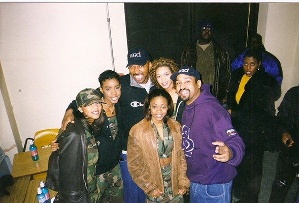 Mike Love and the Dizz with Destiny's Child - COURTESY OF THE DIZZ