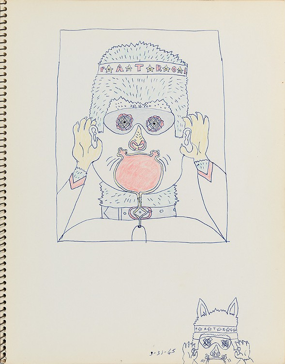 A 1965 sketch by Wirsum, one of more than 50 drawings he completed before painting No Dogs Aloud. - CORBETT VS. DEMPSEY