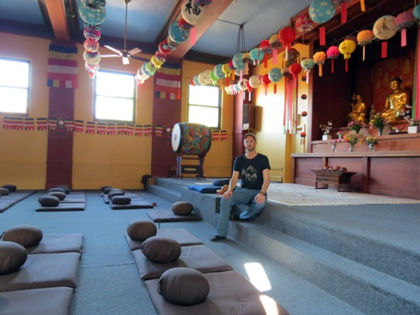 Weis in the Zen Buddhist Temple-Chicago - MIKE WEIS