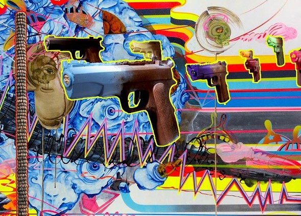 """Work by CJ Hungerman is on display as part of """"Bang! Gotcha Joe!"""" at the Fulton Market Kitchen on Fri 6/9. - COURTESY THE ARTIST"""