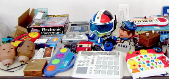 Toys can be instruments at Experimental Garage Sale on Sun 6/11.