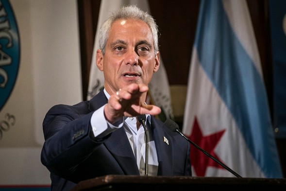 Mayor Rahm Emanuel speaks at the City Club of Chicago. - RICH HEIN/ SUN-TIMES