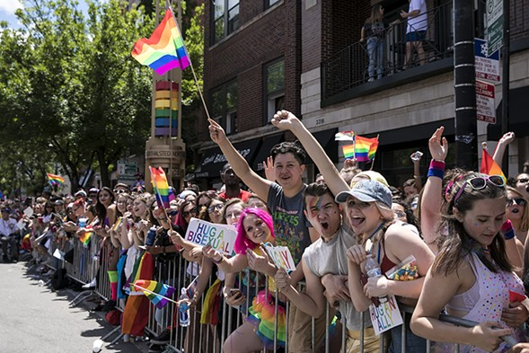A scene from Pride Parade this past Sunday, June 25 - ASHLEE REZIN/SUN-TIMES