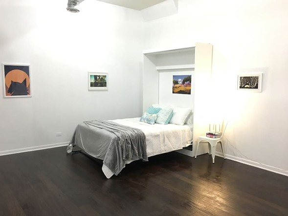 VGA Gallery's operators have set up the space as an Airbnb rental to cover costs. - COURTESY VGA GALLERY