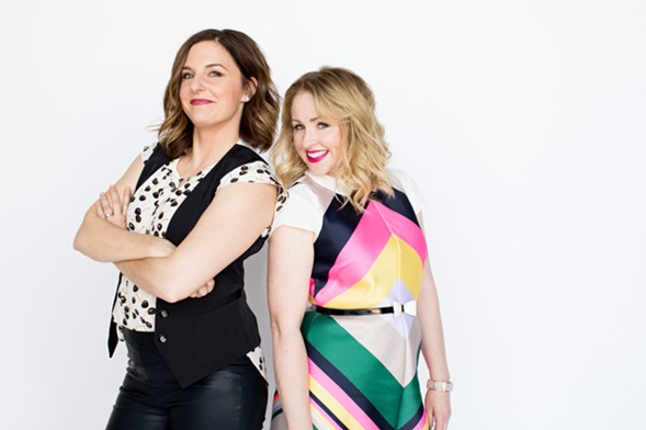 Kristin Hensley and Jen Smedley share motherly advice and silly stories about their kids during #Imomsohard at the Vic Friday 7/7. - COURTESY OF YOUTUBE