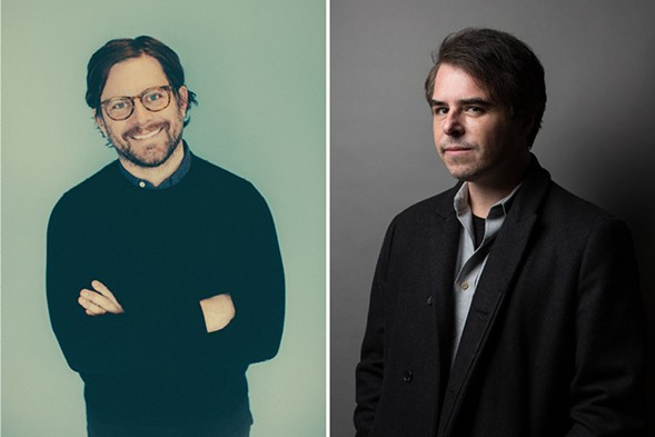 Outgoing Pitchfork president Chris Kaskie and Pitchfork founder Ryan Schreiber - PHOTOS BY STEPHANIE BASSOS AND EBRU YILDIZ