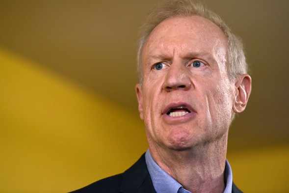Governor Bruce Rauner speaks during a news conference in Chicago on July 5. - AP PHOTO/G-JUN YAM, FILE
