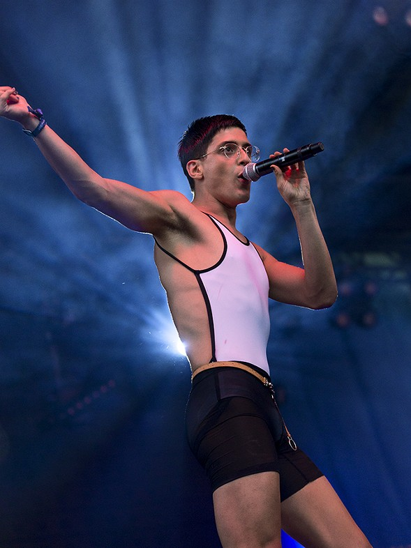 Arca on the Blue Stage on Friday - PORTER MCLEOD