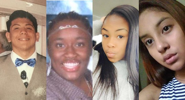 From left: 15-year-old  Brian Llamas, 14-year-old Tamera Wright, 17-year-old Jayda Moore, and 12-year-old Gisell Fierros have all been reported missing in the last 24 hours - CHICAGO POLICE DEPARTMENT