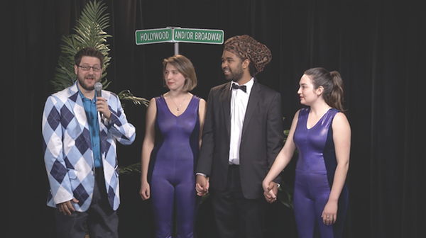 """Starmakers host Steve Gadlin interviews musical group Honor & Decency after a performance of their single """"How About Both?"""""""