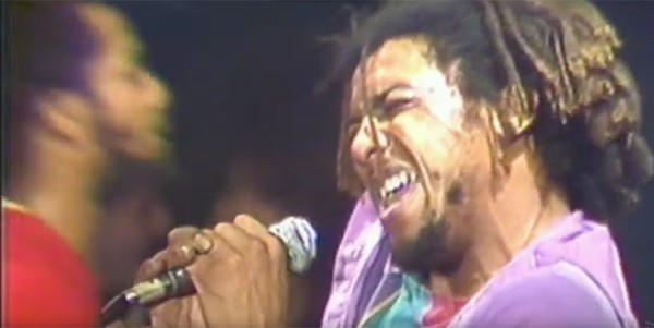 Bad Brains front man H.R. at CBGB in 1982 - VIA YOUTUBE