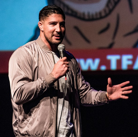 Former MMA fighter Brendan Schaub records an episode of his podcast The Big Breakdown at Thalia Hall Saturday 7/29. - INCREDIBLEPROGRESS
