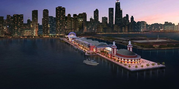 Rendering of the renovated Navy Pier - ADRIAN SMITH + GORDON GILL ARCHITECTURE