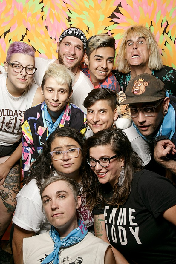 Members of the Fed Up Fest collective and folks from El Rescate - ERIC STROM / GLITTERGUTS