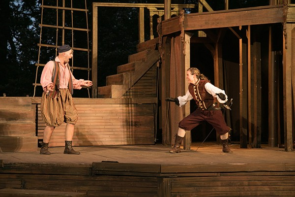 Bobby Bowman and Amanda Forman in Oak Park Festival Theatre's The Fair Maid of the West - COLE SIMON