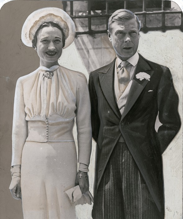 Wallis Simpson and the former King Edward VIII on their wedding day - CHICAGO HISTORY MUSEUM