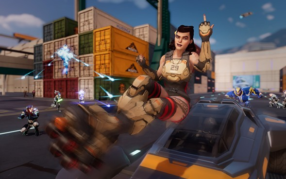 Chicago-inspired character Daisy in Agents of Mayhem - COURTESY OF VOLITION