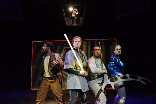 Engage! A Choose-Your-Own Sci-Fight Show, at Theater Wit - COURTESY STELLAR PRODUCTIONS