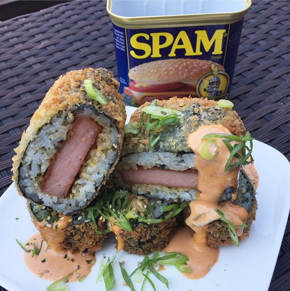 Deep-fried Spam musubi - KELLY IJICHI