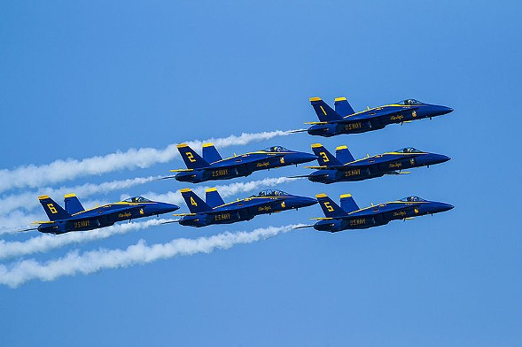 All manner of planes zip into town this weekend for the Chicago Air and Water Show. - SCOTT L