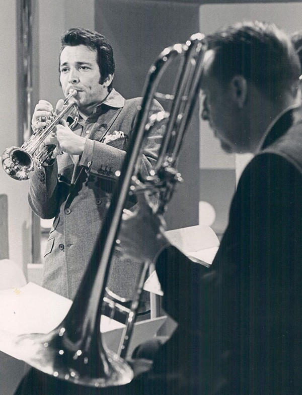 Herb Alpert (left) on tour with the Tijuana Brass in early 1969 - SUN-TIMES PRINT COLLECTION