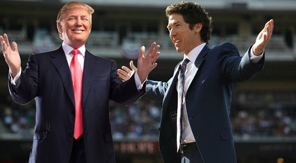 Trump and Osteen—a match made in capitalist heaven - ILLUSTRATION BY RYAN SMITH