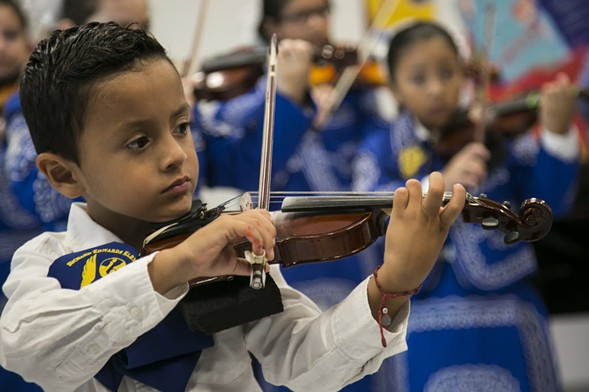 CPS students perform on the first day of the 2016-'17 academic year. - ASHLEE REZIN/SUN-TIMES
