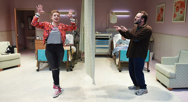 Mary Williamson and Stef Tovar in Route 66 Theatre's A Funny Thing Happened . . .  - BRANDON DAHLQUIST