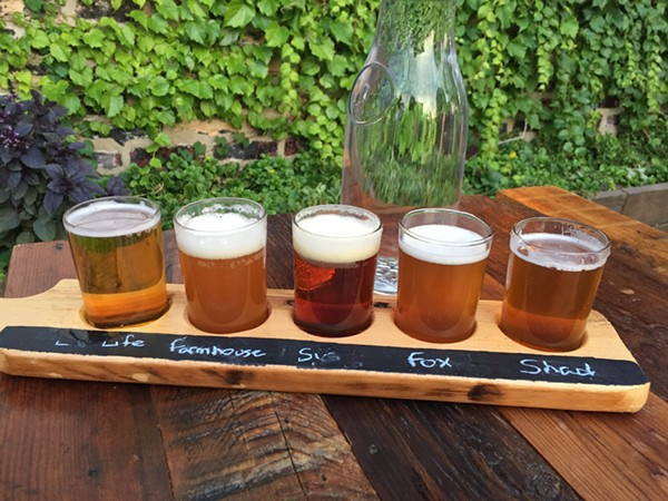 Beer flight at Alulu Brewpub and Brewery - JULIA THIEL