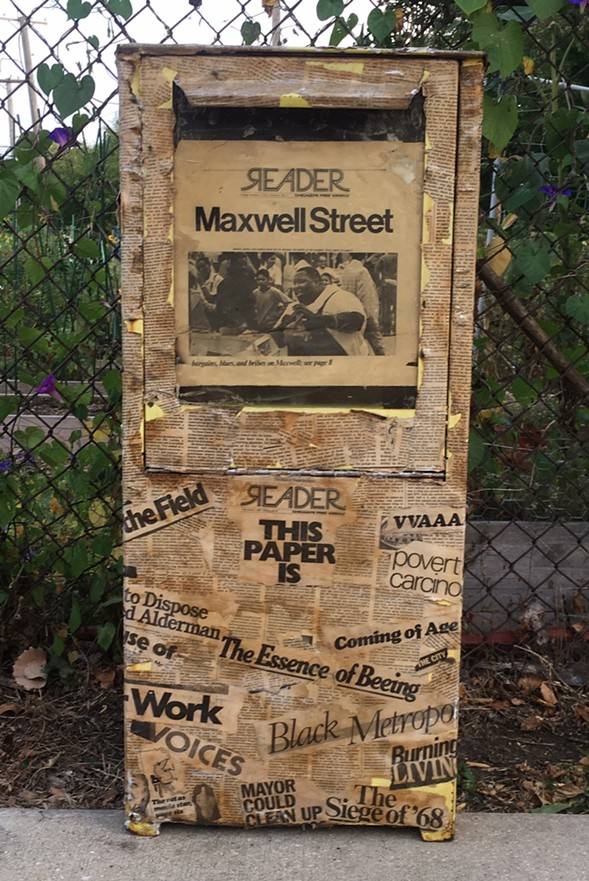 """The Reader """"time machine"""" on Lawrence Avenue in Ravenswood Manor - """"IAN CRUSKEN"""""""