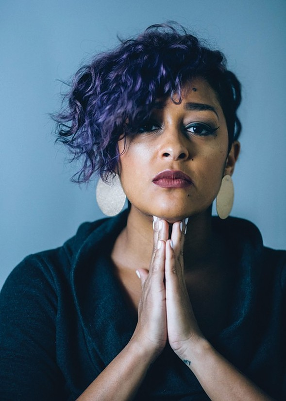 Eve Ewing turns poetic with her new book Electric Arches. She'll share poems at Coumbia College Sunday 10/1. - DANIEL BARLOW