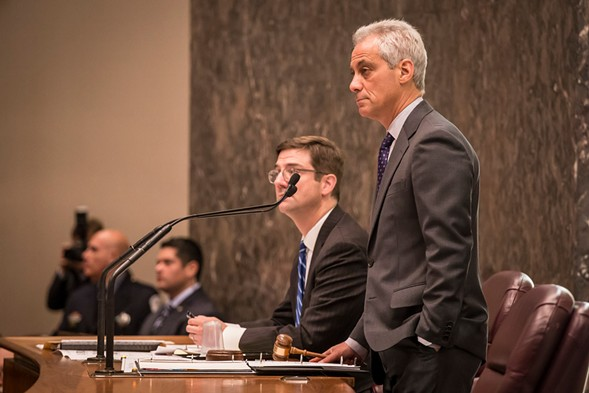 Mayor Rahm Emanuel at last week's City Council meeting - RICH HEIN/SUN-TIMES