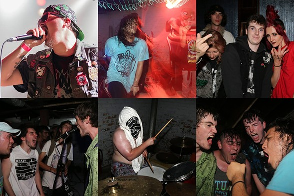 Some of the folks you'll see at this weekend's Toastamania, including members of Texas Toast Chainsaw Massacre, Death of Self, and XEUTHANIZEDX - PHOTOS BY LEAP PHOTOGRAPHY AND GLEGOZ PHOTOGRAPHY