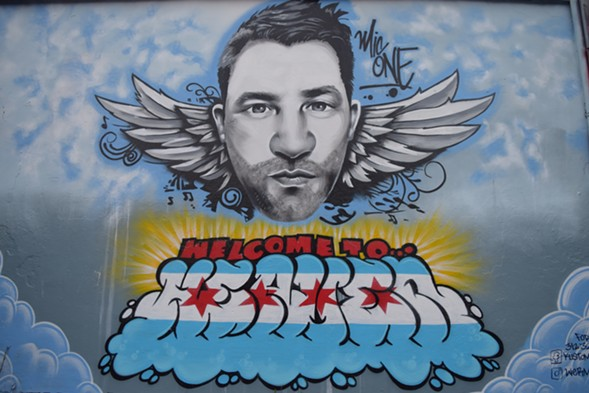 The Mic One memorial mural, from up close - LEOR GALIL
