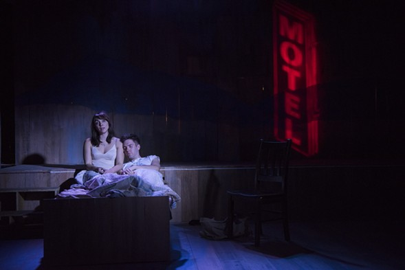 Nicole Laurenzi and Will Lidke in Griffin Theatre's Violet - MICHAEL BROSILOW