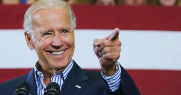 Joe Biden comes to the Chicago Theatre on his American Promise tour Mon 12/11