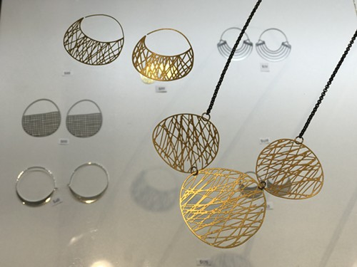 Lightweight metal pieces that go from $48 to $175 made by Daphne Olive - ISA GIALLORENZO