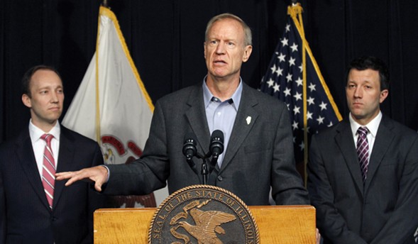 Governor Bruce Rauner speaks at a news conference in Chicago. - AP PHOTO/TAE-GYUN KIM FILE
