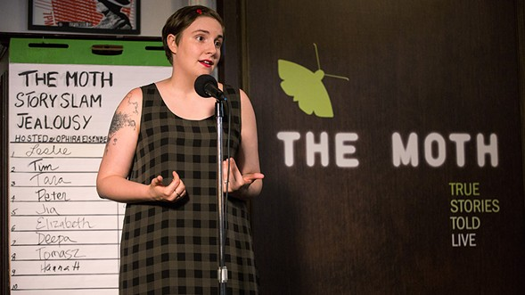You don't have to be a professional storyteller like Lena Dunham to get onstage at the Chicago Moth StorySlam Tuesday 1/16. - THE MOTH
