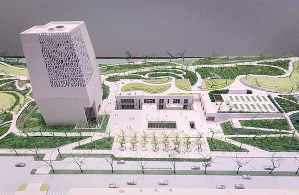 Model of the proposed Obama Center - RICH HEIN/SUN-TIMES MEDIA