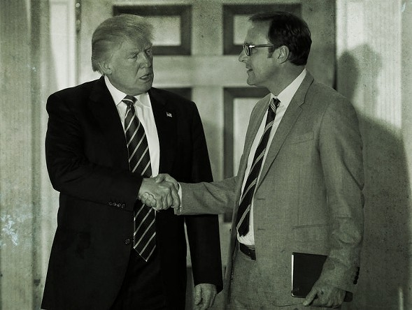 Donald Trump and Todd Ricketts in 2017