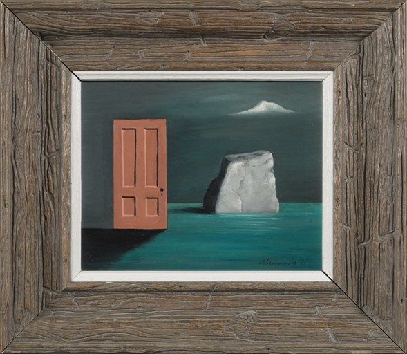 Gertrude Abercrombie, The Door and the Rock, 1971 - COLLECTION OF LAURA AND GARY MAURER