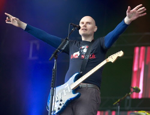 Billy Corgan at Glastonbury in 2013, which shouldn't be any different from Billy Corgan in Chicago in 2018 - COURTESY OF SUN-TIMES MEDIA